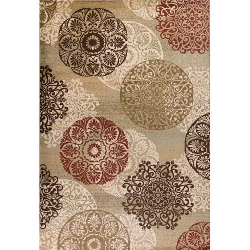 Heritage Sage Rectangular: 3 Ft. 3-Inch x 4 Ft. 11-Inch Rug