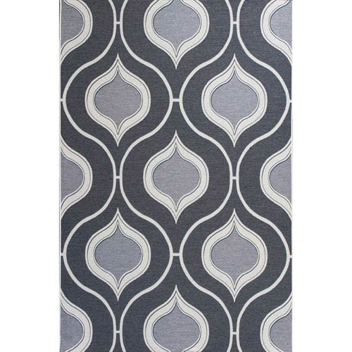 KAS Oriental Rugs Horizon Slate Rectangular: 3 Ft. 4-Inch x 4 Ft. 11-Inch Rug
