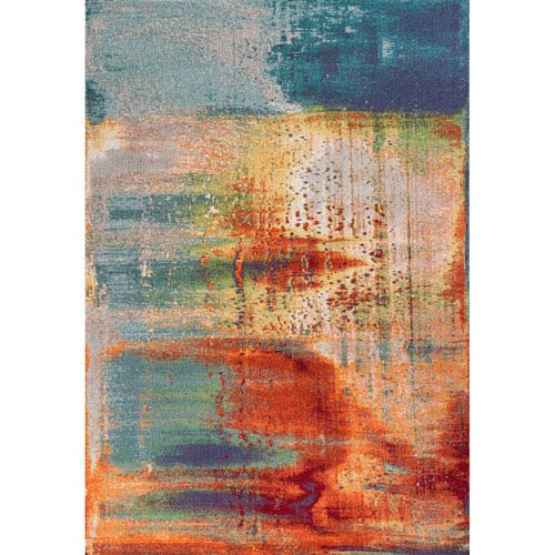 Illusions Multicolor Rectangular: 3 Ft. 3 In. x 4 Ft. 11 In. Rug