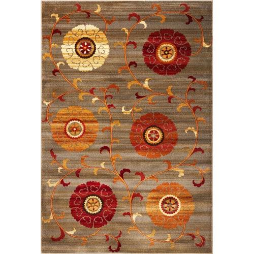 KAS Oriental Rugs Lifestyles Slate Whimsy Rectangular: 5 Ft. 3 In. x 7 Ft. 7 In.  Rug