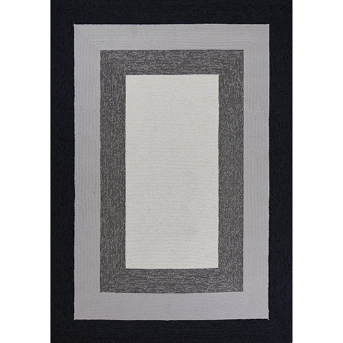 KAS Oriental Rugs Libby Langdon Hamptons Charcoal Highview Rectangular: 21 In. x 34 In. Rug
