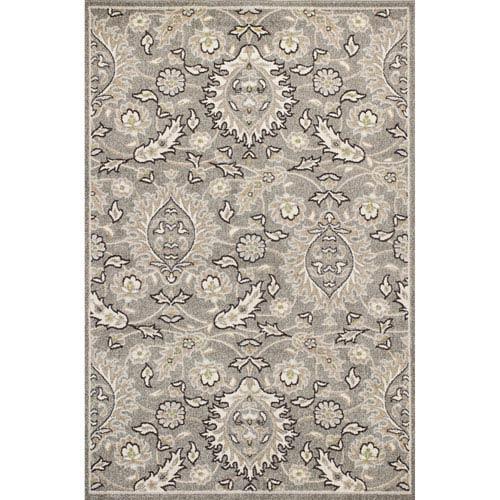KAS Oriental Rugs Lucia Gray Rectangular: 23-Inch x 45-Inch Rug