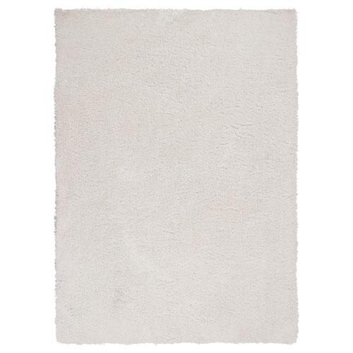 Luxe Winter White Rectangular: 3 Ft. x 5 Ft. Rug