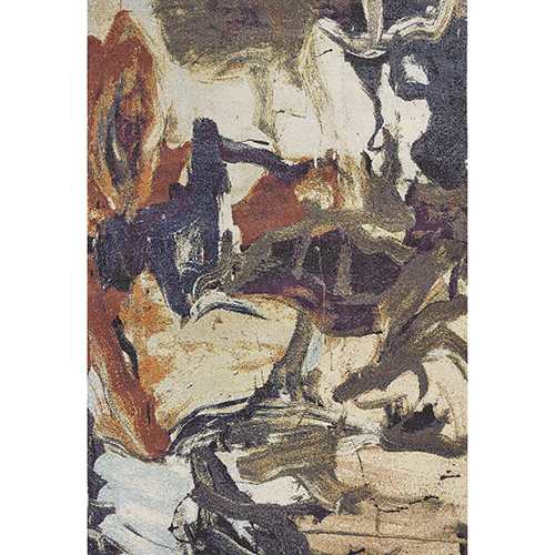 Mediterra Multicolor Brushstrokes Rectangular: 3 Ft. 3 In. X 4 Ft. 11 In. Rug