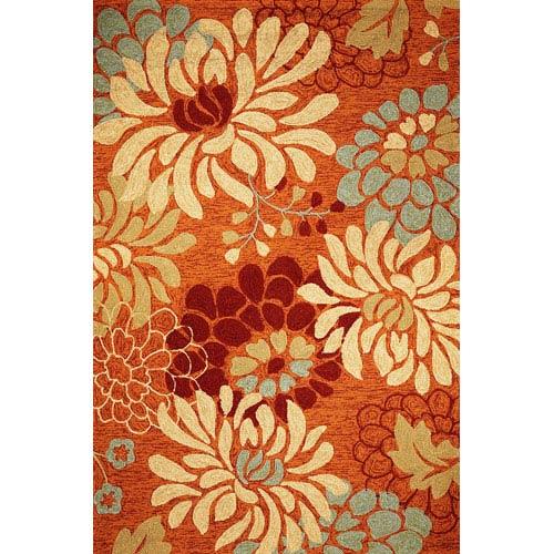 KAS Oriental Rugs Meridian Saffron Silhouette Rectangular: 5 Ft. x 7 Ft. 6 In.  Rug