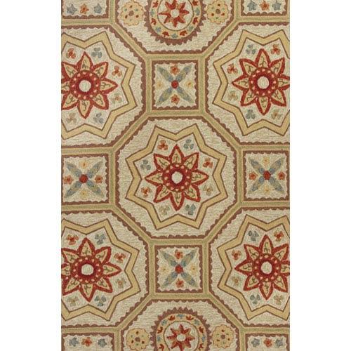 KAS Oriental Rugs Meridian Sand Arabesque Rectangular: 5 Ft. x 7 Ft. 6 In. Rug