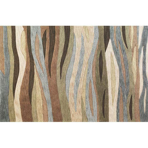 KAS Oriental Rugs Milan Green Breeze Rectangular: 5 ft. x 7 ft. 6 in. Rug