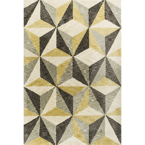 KAS Oriental Rugs Mission Ivory Visions Rectangular: 3 Ft. 3 In. x 5 Ft. 3 In. Rug