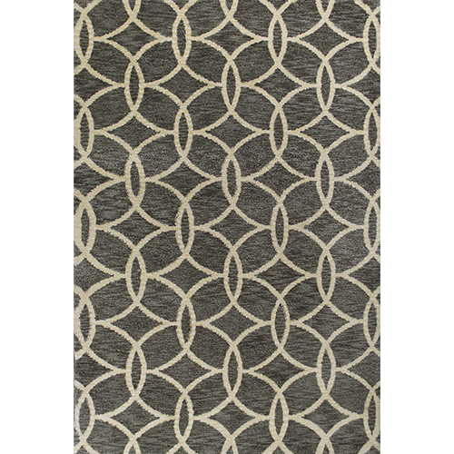 KAS Oriental Rugs Mission Grey Illusions Rectangular: 3 Ft. 3 In. x 5 Ft. 3 In. Rug