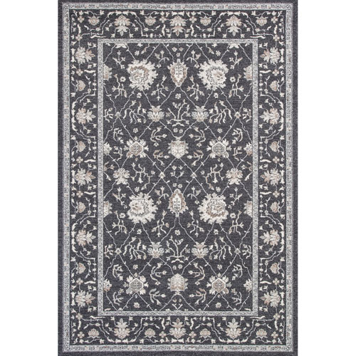 KAS Oriental Rugs Pesha Charcoal Tabriz Rectangular: 7 Ft. 10 In. x 11 Ft. 2 In. Rug