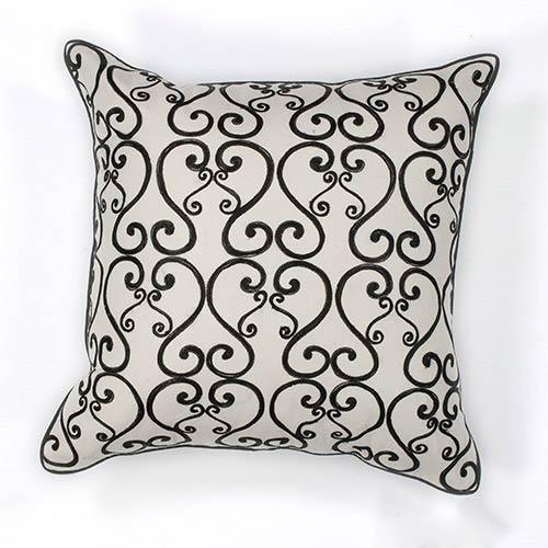 White and Black Luminous 18-Inch Decorative Pillow