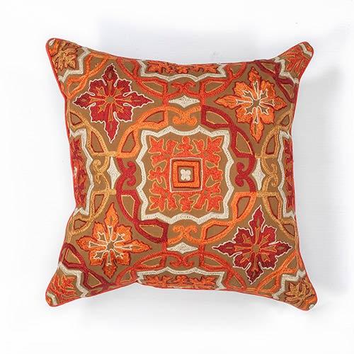 Kas Oriental Rugs Mocha Awakening 40 Inch Decorative Pillow Cool Oriental Decorative Pillows
