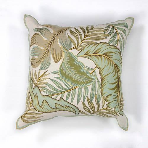 KAS Oriental Rugs Ivory Tropics 18-Inch Decorative Pillow