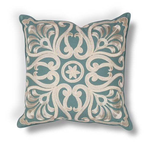 Teal 18-Inch Throw Pillow