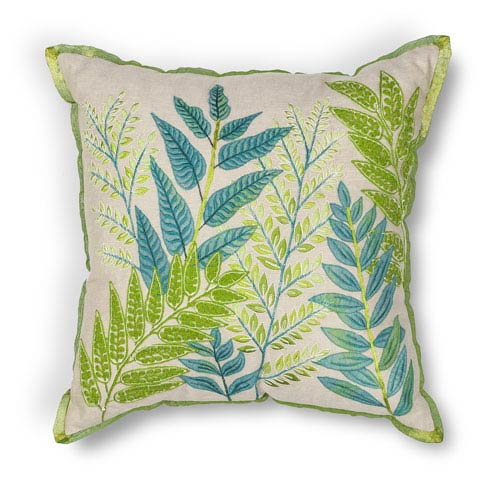 Blue and Green 18-Inch Throw Pillow