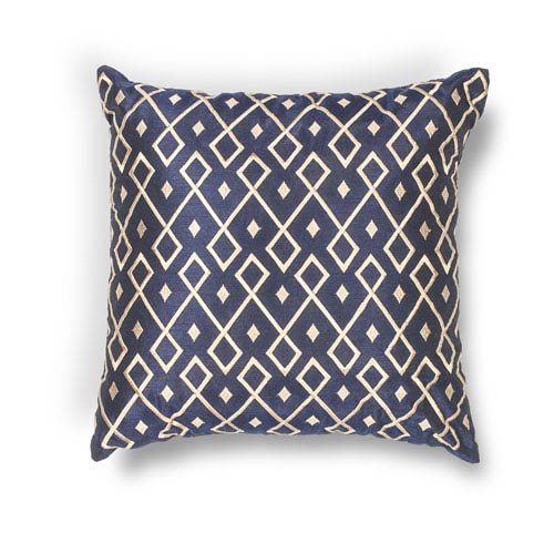 Gold and Navy 20-Inch Throw Pillow