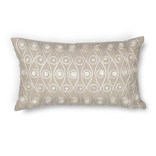 Taupe 12 x 20-Inch Throw Pillow