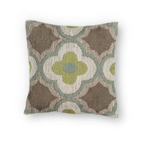 Taupe and Sage 20-Inch Throw Pillow