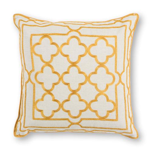 Gold Trefoil Frame 18 In. Pillow