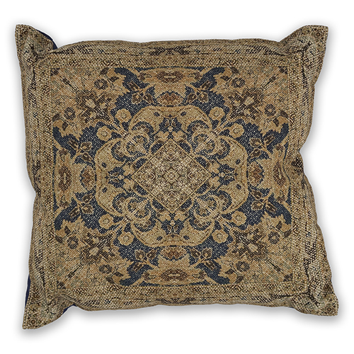 Navy and Gold Artesia 18 In. Pillow