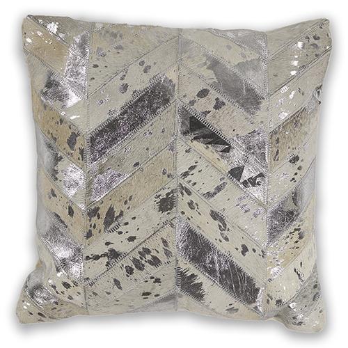 KAS Oriental Rugs Ivory Chevron 18 In. Pillow