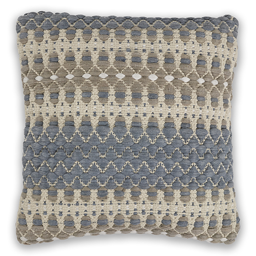 KAS Oriental Rugs Blue and Beige Laguna 18 In. Pillow