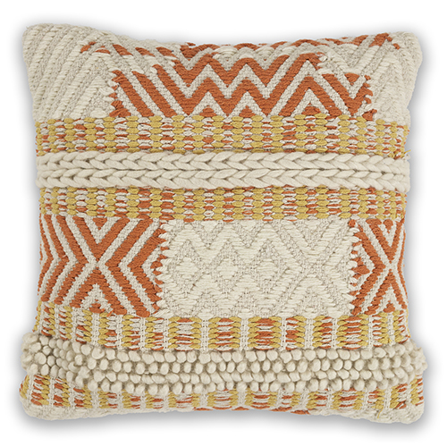 KAS Oriental Rugs Ivory and Spice Playa 18 In. Pillow