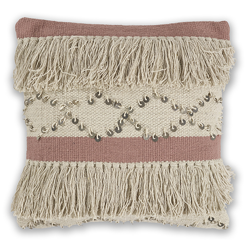 Ivory and Blush Treasure 18 In. Pillow