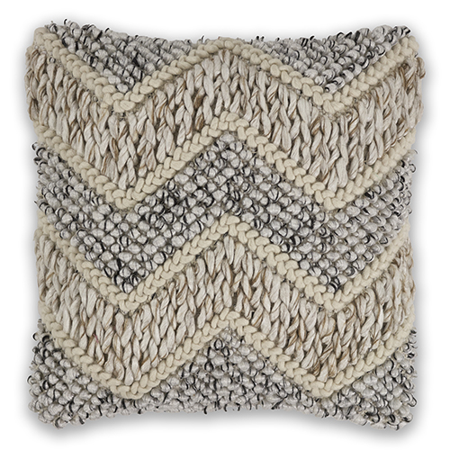 KAS Oriental Rugs Beige and Grey Elements 18 In. Pillow