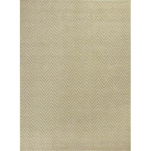Porto Ivory Herringbone Rectangular: 5 Ft. x 8 Ft. Rug