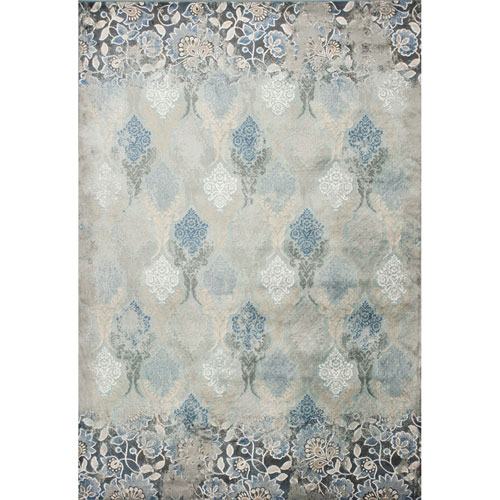 KAS Oriental Rugs Provence Slate Blue Brighton Rectangular: 3 Ft. 3 In. x 4 Ft. 7 In. Rug