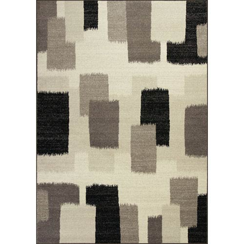 KAS Oriental Rugs Reflections Black & White Palette Rectangular: 5 Ft. 3 In. x 7 Ft. 7 In. Rug