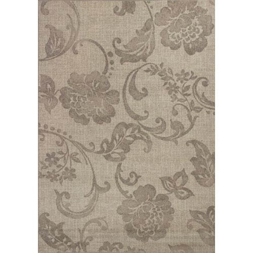 KAS Oriental Rugs Reflections Grey Silhouette Rectangular: 5 Ft. 3 In. x 7 Ft. 7 In. Rug
