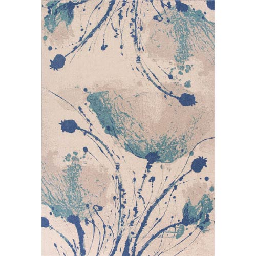 Reflections Ivory Rectangular: 2 Ft. 7-Inch x 4 Ft. 11-Inch