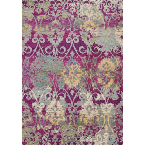 Reina Fuchsia Rectangular: 3 Ft. 3 In. x 4 Ft. 11 In. Rug