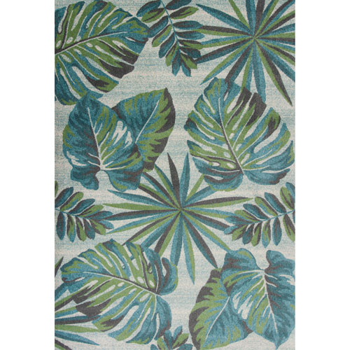 Stella Teal and Green Nassau Rectangular: 3 Ft. 3 In. x 4 Ft. 11 In. Rug