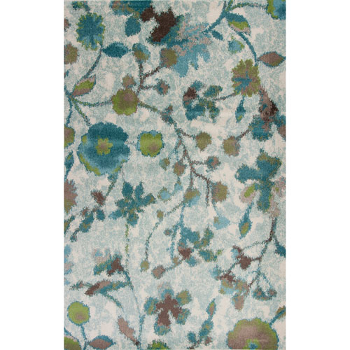 Stella Teal Reflections Rectangular: 3 Ft. 3 In. x 4 Ft. 11 In. Rug