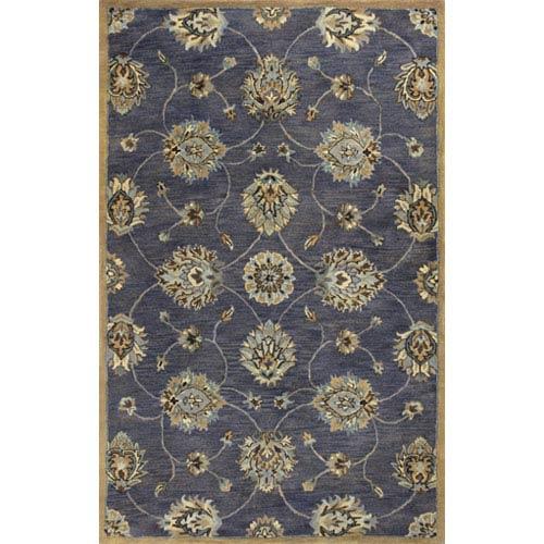 KAS Oriental Rugs Syriana Midnight Kashan Rectangular: 5 Ft. x 8 Ft. Rug