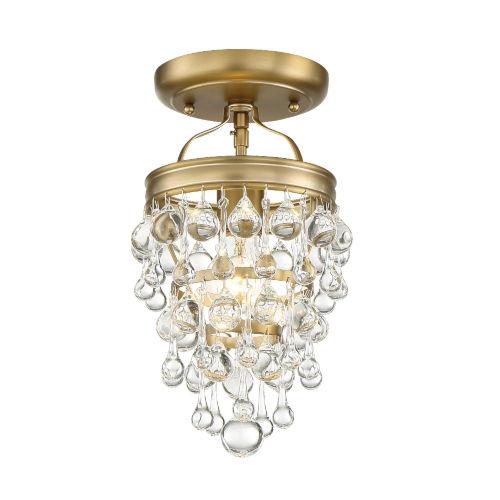 Crystorama Lighting Group Calypso One Light Vibrant Gold Mini Chandelier 131 Vg Ceiling Bellacor