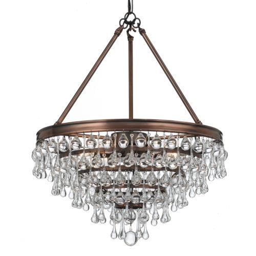 Calypso Vibrant Bronze Six-Light Pendant
