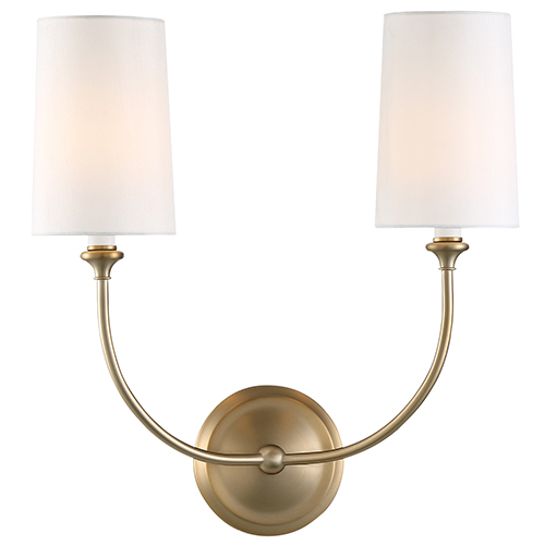 Crystorama Lighting Group Sylvan Vibrant Gold Two-Light Sconce