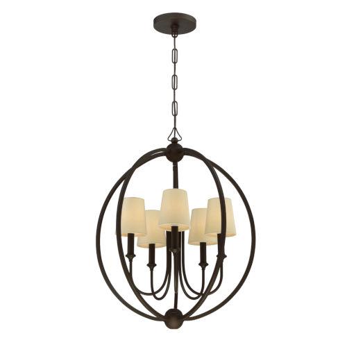 Sylvan Dark Bronze Five-Light Chandelier