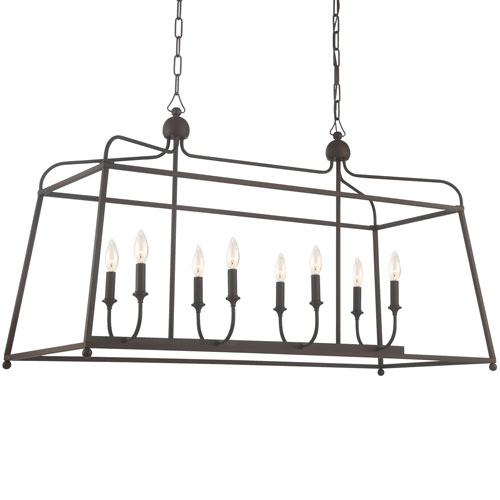 Sylvan Dark Bronze 16-Inch Eight-Light Chandelier