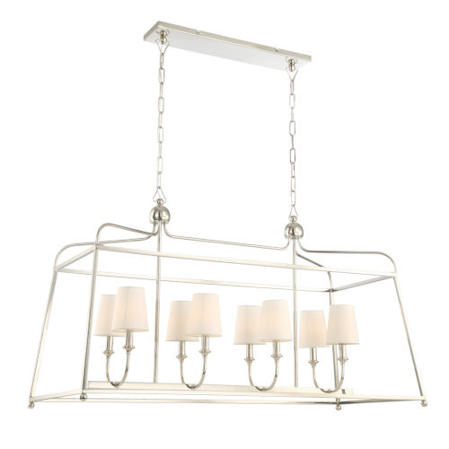Sylvan Polished Nickel Eight-Light Island Pendant