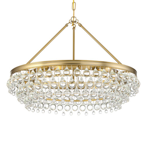 Calypso Six-Light Vibrant Gold Chandelier