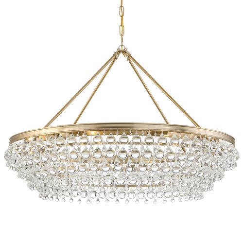 Calypso Vibrant Gold Eight-Light Chandelier