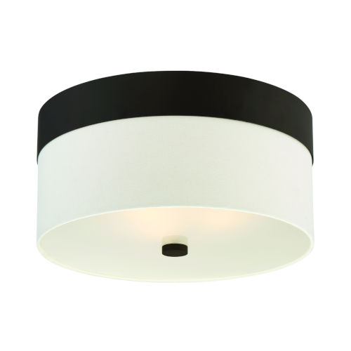Grayson Dark Bronze Three-Light Flush Mount