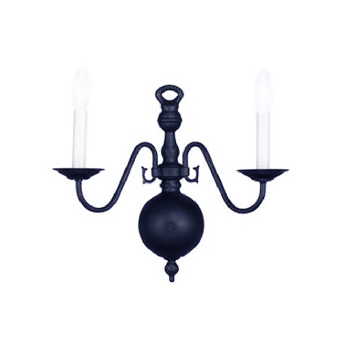 Crystorama Lighting Group Hot Deal Black Two-Light Sconce