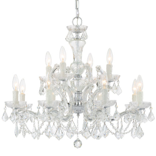 Maria Theresa Two-Tier Crystal Chandelier