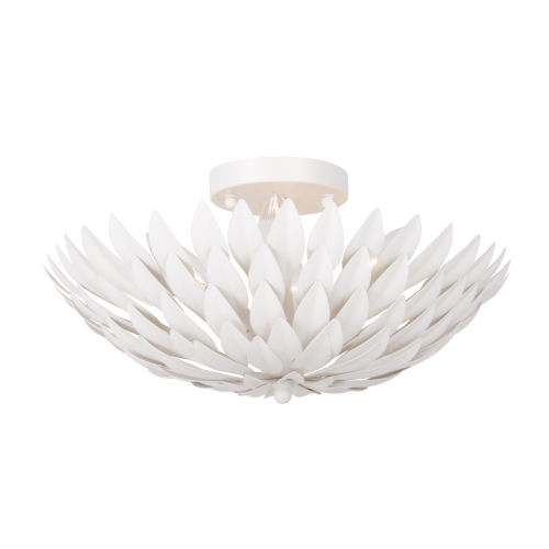 Broche Matte White Four-Light Ceiling Mount